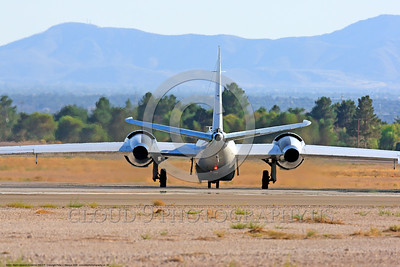 NASA-B-57 00025 Rear view of a taxing Martin-General Dynammics WB-57F NASA N926NA 63-13503A high altitude atmospheric research aircraft Nellis AFB 8-2009 airplane picture by Peter J  Mancus