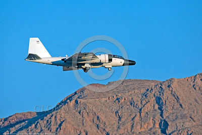 NASA-B-57 00020 A landing Martin-General Dynammics WB-57F NASA N926NA 63-13503A high altitude atmospheric research aircraft Nellis AFB 8-2009 airplane picture by Peter J  Mancus