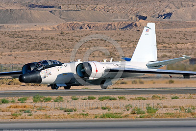 NASA-B-57 00027 A taxing Martin-General Dynammics WB-57F NASA N926NA 63-13503A high altitude atmospheric research aircraft Nellis AFB 8-2009 airplane picture by Peter J  Mancus