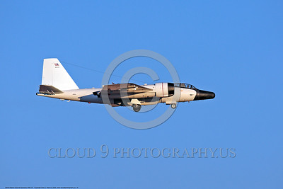 NASA-B-57 00018 Side view of a landing Martin-General Dynammics WB-57F NASA N926NA 63-13503A high altitude atmospheric research aircraft 8-2009 airplane picture by Peter J  Mancus