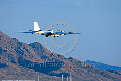 NASA-B-57 00028 A landing Martin-General Dynammics WB-57F NASA N926NA 63-13503A high altitude atmospheric research aircraft Nellis AFB 8-2009 airplane picture by Peter J  Mancus