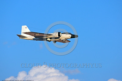 NASA-B-57 00030 A landing Martin-General Dynammics WB-57F NASA N926NA 63-13503A high altitude atmospheric research aircraft 8-2009 airplane picture by Peter J  Mancus
