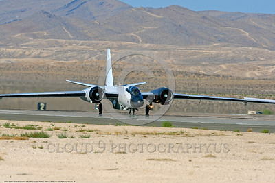 NASA-B-57 00029 A Martin-General Dynammics WB-57F NASA N926NA 63-13503A high altitude atmospheric research aircraft on Nellis AFB's runway 8-2009 airplane picture by Peter J  Mancus