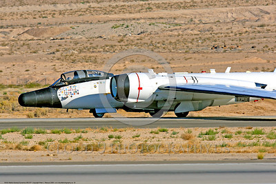 NASA-B-57 00033 A taxing Martin-General Dynammics WB-57F NASA N926NA 63-13503A high altitude atmospheric research aircraft Nellis AFB 8-2009 airplane picture by Peter J  Mancus