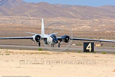 NASA-B-57 00031 A Martin-General Dynammics WB-57F NASA N926NA 63-13503A high altitude atmospheric research aircraft on Nellis AFB's runway 8-2009 airplane picture by Peter J  Mancus