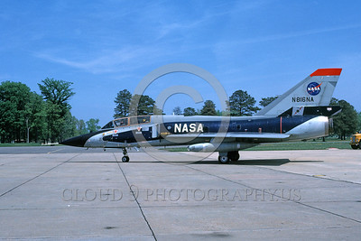 NASA-F-106 00007 A taxing Convair F-106B Delta Dart NASA N816NA 4-1982 NASA airplane picture by Ray Leader