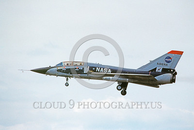 NASA-F-106 00002 A landing Convair F-106B Delta Dart NASA N816NA 4-1982 NASA airplane picture by Ray Leader