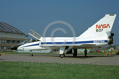 NASA-F-106 00003 A static Convair F-106B Delta Dart NASA N607NA 572507 Cleveland 10-1979 NASA airplane picture by Thomas Sabato