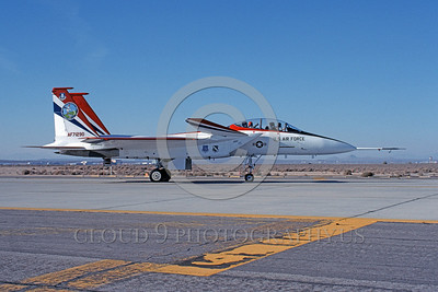 NASA-F-15 00009 A taxing McDonnell Douglas YF-15B Eagle jet fighter NASA 837 71290 Edwards AFB 3-1990 NASA airplane picture by Clark Hansen
