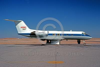 NASA-Gulfstream II 00001 A static Gulfstream II NASA N947NA El Paso 12-1977 NASA airplane picture by Peter J Mancus