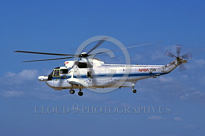 NASA-H-3 00002 A flying Sikorsky NH-3 NASA 735 5-1992 NASA helicopter picture by Stephen W D Wolf
