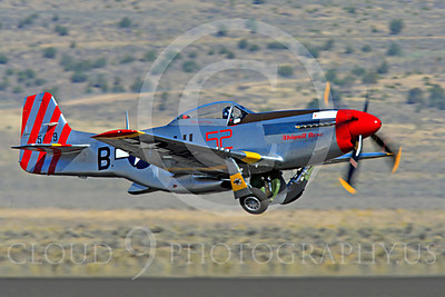 Race Airplane Abigail Rose 00010 North American P-51 Mustang race airplane Abigail Rose at Reno air races by Peter J Mancus