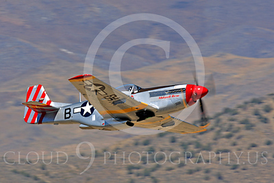Race Airplane Abigail Rose 00022 North American P-51 Mustang race airplane Abigail Rose at Reno air races by Peter J Mancus
