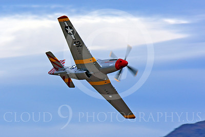 Race Airplane Abigail Rose 00018 North American P-51 Mustang race airplane Abigail Rose at Reno air races by Peter J Mancus