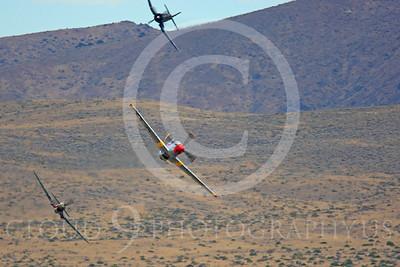 Race Airplane Abigail Rose 00016 North American P-51 Mustang race airplane Abigail Rose at Reno air races by Peter J Mancus