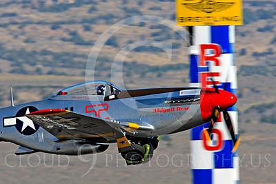 Race Airplane Abigail Rose 00020 North American P-51 Mustang race airplane Abigail Rose at Reno air races by Peter J Mancus