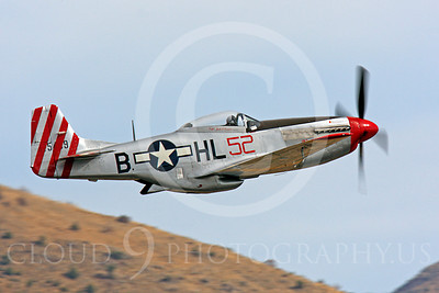 Race Airplane Abigail Rose 00014 North American P-51 Mustang race airplane Abigail Rose at Reno air races by Peter J Mancus