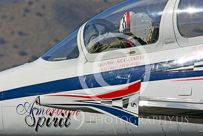 Race Airplane American Spirit 00011 Aero Vodochody L-39 Albatros N139BJ air racing plane at Reno air races by Peter J Mancus