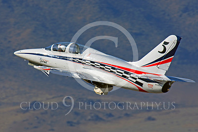 Race Airplane American Spirit 00010 Aero Vodochody L-39 Albatros N139BJ air racing plane at Reno air races by Peter J Mancus