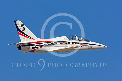 Race Airplane American Spirit 00006 Aero Vodochody L-39 Albatros N139BJ air racing plane at Reno air races by Peter J Mancus