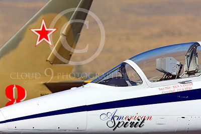 Race Airplane American Spirit 00009 Aero Vodochody L-39 Albatros N139BJ air racing plane at Reno air races by Peter J Mancus