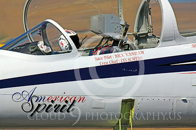 Race Airplane American Spirit 00005 Aero Vodochody L-39 Albatros N139BJ air racing plane at Reno air races by Peter J Mancus