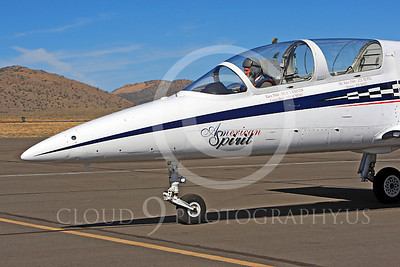 Race Airplane American Spirit 00017 Aero Vodochody L-39 Albatros N139BJ air racing plane at Reno air races by Peter J Mancus