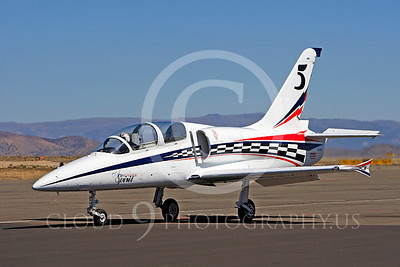 Race Airplane American Spirit 00013 Aero Vodochody L-39 Albatros N139BJ air racing plane at Reno air races by Peter J Mancus