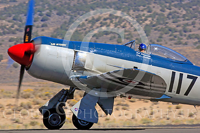 Race Airplane Bad Attitude 00003 Hawker Sea Fury Bad Attitude at Reno air races by Peter J Mancus