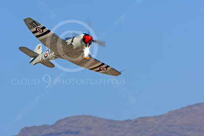 Race Airplane Bad Attitude 00010 Hawker Sea Fury Bad Attitude NX42SF air racing plane at Reno Air Races by Peter J Mancus