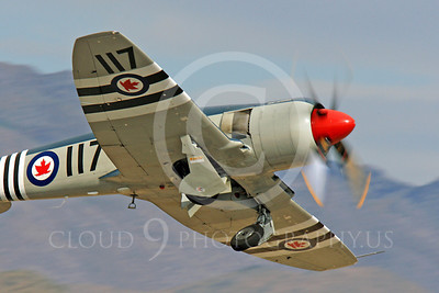 Race Airplane Bad Attitude 00018 Hawker Sea Fury Bad Attitude NX42SF air racing plane at Reno Air Races by Peter J Mancus