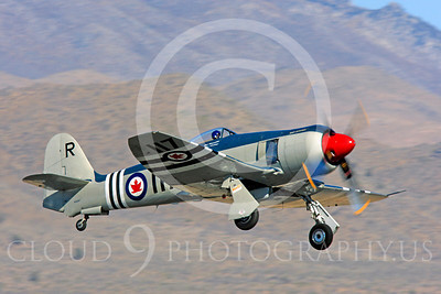 Race Airplane Bad Attitude 00002 Hawker Sea Fury Bad Attitude at Reno air races by Peter J Mancus