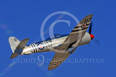 Race Airplane Bad Attitude 00006 Hawker Sea Fury Bad Attitude NX42SF air racing plane at Reno Air Races by Peter J Mancus