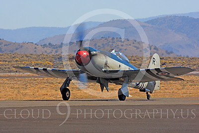 Race Airplane Bad Attitude 00005 Hawker Sea Fury Bad Attitude at Reno air races by Peter J Mancus