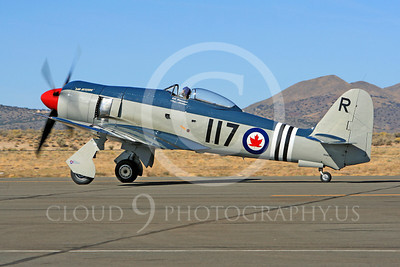Race Airplane Bad Attitude 00007 Hawker Sea Fury Bad Attitude NX42SF air racing plane at Reno Air Races by Peter J Mancus