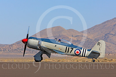 Race Airplane Bad Attitude 00001 Hawker Sea Fury Bad Attitude at Reno air races by Peter J Mancus
