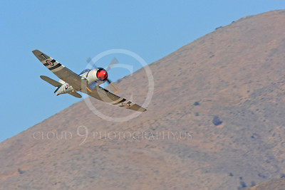Race Airplane Bad Attitude 00008 Hawker Sea Fury Bad Attitude NX42SF air racing plane at Reno Air Races by Peter J Mancus