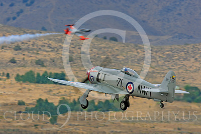 Race Airplane Sawbones 00018 Hawker Sea Fury Sawbones at Reno air races by Peter J Mancus