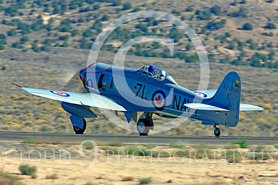 Race Airplane Sawbones 00017 Hawker Sea Fury Sawbones at Reno air races by Peter J Mancus