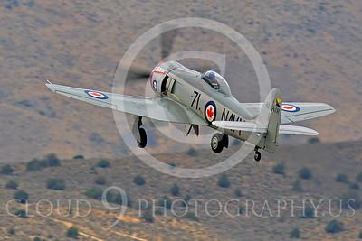 Race Airplane Sawbones 00014 Hawker Sea Fury Sawbones at Reno air races by Peter J Mancus