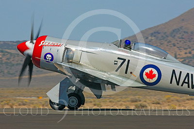 Race Airplane Sawbones 00015 Hawker Sea Fury Sawbones at Reno air races by Peter J Mancus