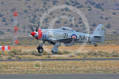 Race Airplane Sawbones 00026 Hawker Sea Fury Sawbones at Reno air races by Peter J Mancus