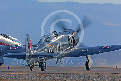 Race Airplane Argonaut 00009 Hawker Sea Fury Argonaut N19SF race airplane at Reno air races by Peter J Mancus