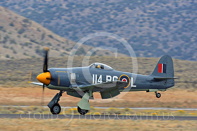 Race Airplane Argonaut 00021 Hawker Sea Fury Argonaut N19SF race airplane at Reno air races by Peter J Mancus