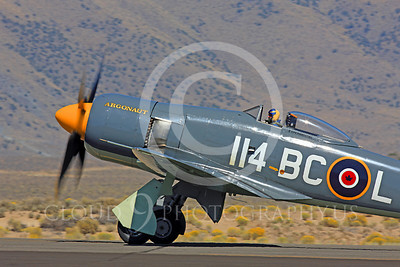 Race Airplane Argonaut 00033 Hawker Sea Fury Argonaut N19SF race airplane at Reno air races by Peter J Mancus