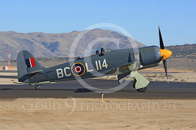 Race Airplane Argonaut 00031 Hawker Sea Fury Argonaut N19SF race airplane at Reno air races by Peter J Mancus