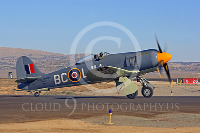 Race Airplane Argonaut 00023 Hawker Sea Fury Argonaut N19SF race airplane at Reno air races by Peter J Mancus
