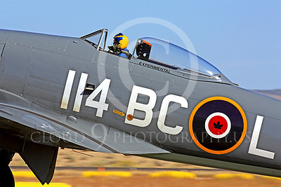 Race Airplane Argonaut 00037 Hawker Sea Fury Argonaut N19SF race airplane at Reno air races by Peter J Mancus