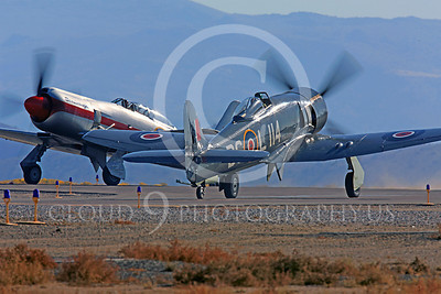 Race Airplane Argonaut 00025 Hawker Sea Fury Argonaut N19SF race airplane at Reno air races by Peter J Mancus