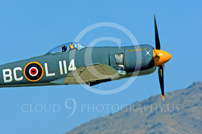 Race Airplane Argonaut 00002 Hawker Sea Fury Argonaut N19SF race airplane at Reno air races by Peter J Mancus